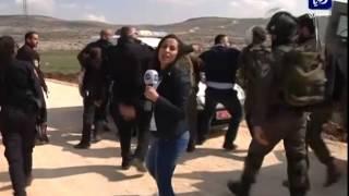 اعتداء على طاقم رؤيا في فلسطين