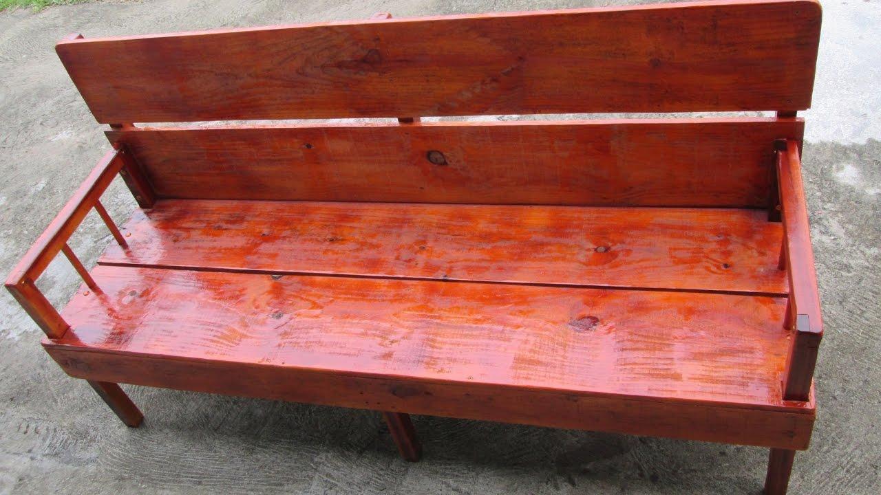 Fazendo sofa de madeira caseiro youtube for Sofa que vira beliche