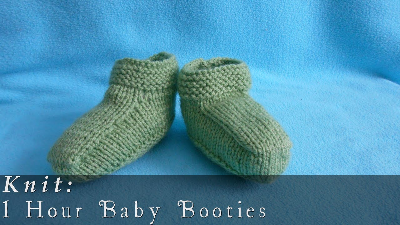 1 Hour Baby Booties { Knit } - YouTube