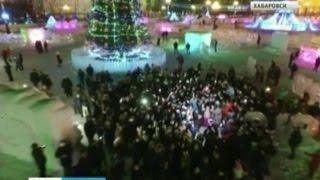 """Вести-Хабаровск. Съёмки клипа для кинокомедии """"Ёлки-5"""""""