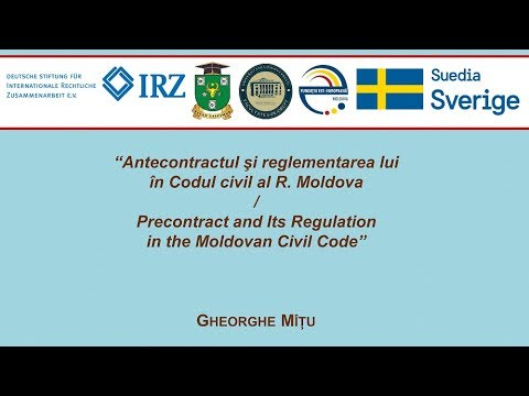 Dr. Gh. Mitu — Antecontractul si reglementarea lui in Codul civil al R. Moldova