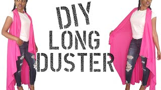 DIY How To Make Long Cardigan No Sew