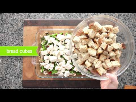 How To Make Savoury Asparagus & Chicken Bread Pudding