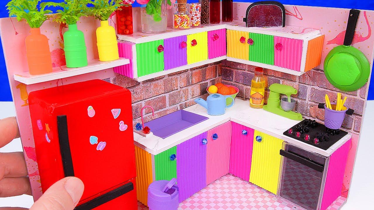 diy miniature kitchen for unicorns + miniature mixer - youtube