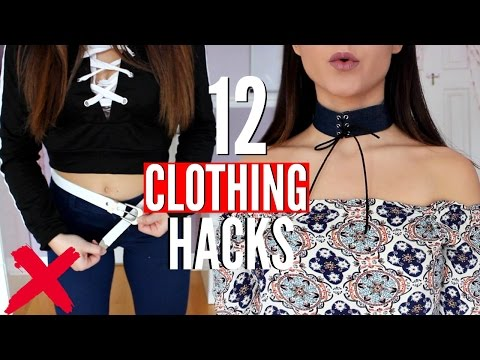 12 Clothing HACKS That Will SAVE you A LOT Of MONEY Every Girl MUST Know!