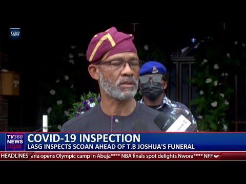 COVID 19: LASG inspects SCOAN ahead of TB Joshua's burial