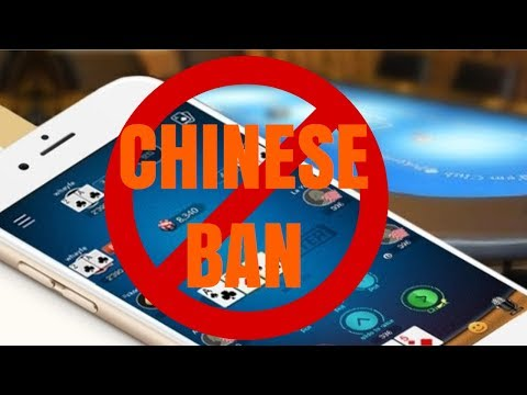 CHINESE POKER APPS BAN