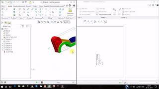 CREO Tutorial  : Instant 3D to 2D model conversion