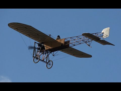4K | World's Oldest Flying Aeroplane | Blériot XI ( 1909 ) at Sanicole 2017