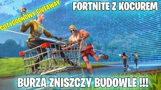 FORTNITE WITH A CAT-STORM DESTROINS BUILDINGS!!! -WEEKLY GIVEAWAY-Gram with viewers