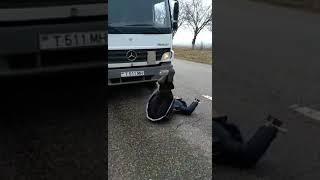 Траса рыбница Тирасполь ,район с. Михайловка осторожно женщина мешает проезду