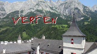 Средневековый замок Хоэнверфен (Hohenwerfen) в Австрии(Средневековая крепость Хоэнверфен (Hohenwerfen) находится в городке Верфен (Werfen) в Земле Зальцбург (Salzburgland) в..., 2015-08-04T08:40:38.000Z)