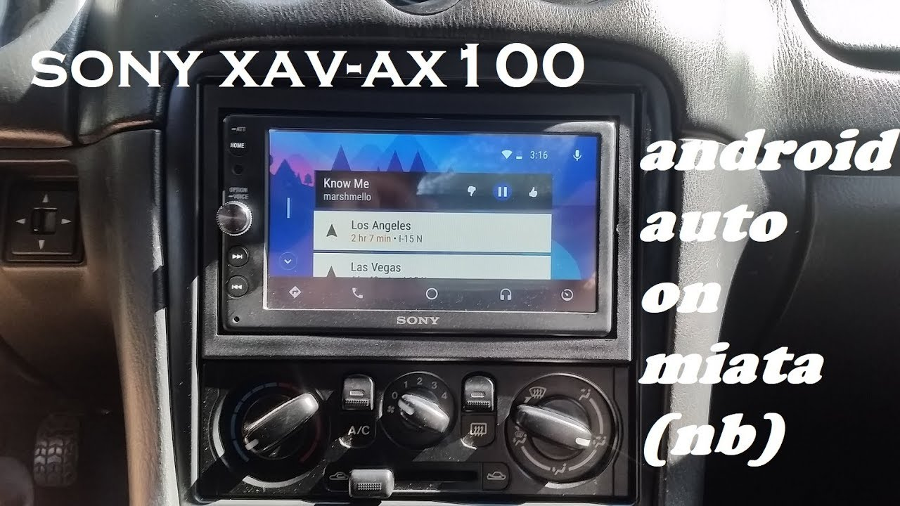 Sony Xav Ax100 On A Miata Nb  Install