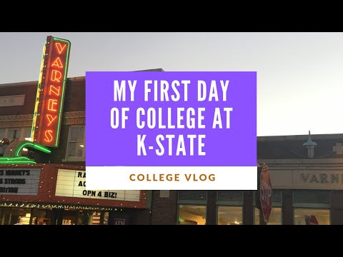 Vlog: My First Day of College at K-State!