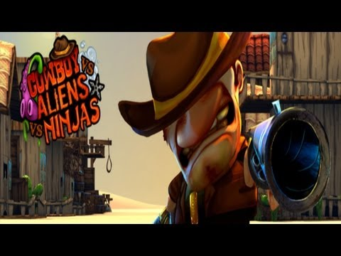 Cowboy vs. Ninjas vs. Aliens - Universal - HD Gameplay Trailer