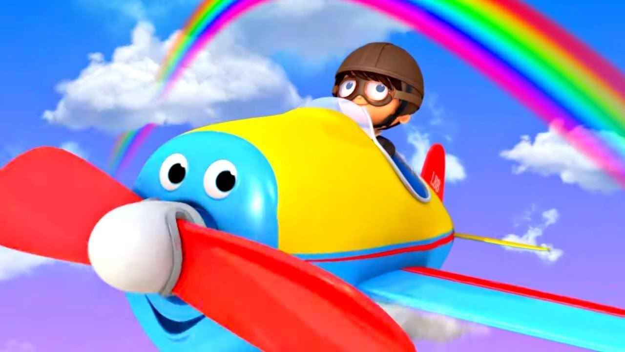 Детские песни Литл Бэйби Бам - Летаем на самолете - Мультики для малышей