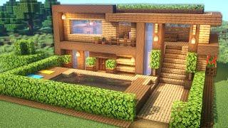 Minecraft: Casa Perfecta Para Survival   Tutorial Casa Minecraft De Madera Grande