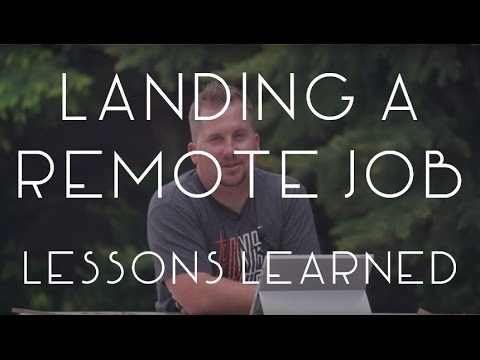 Landing a Remote Job - Lessons Learned - TMWE S02 E18