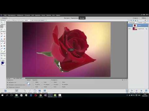 Как объединить и наложить картинки в Adobe Photoshop