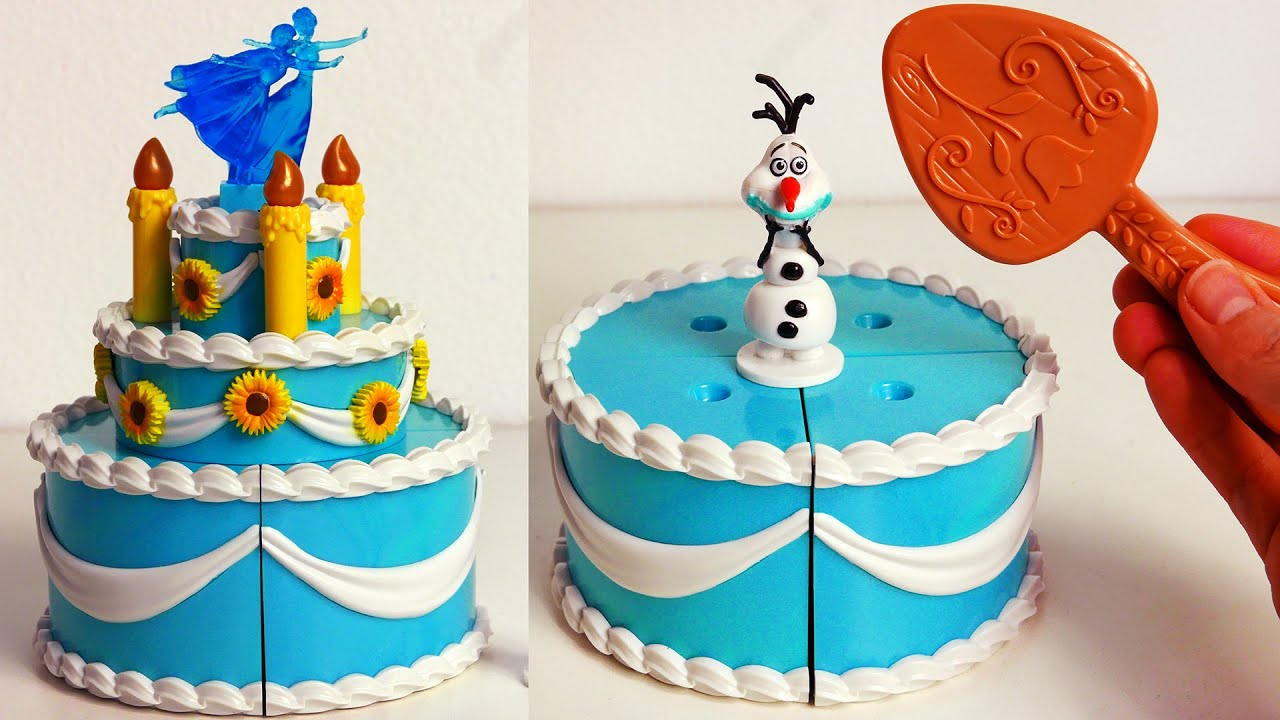 Frozen Birthday Cake Disney Toys For Kids Youtube