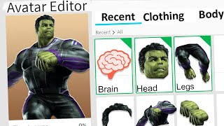MAKING SMART HULK A ROBLOX ACCOUNT!!