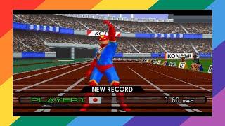 [PSX] International Track & Field 2000 (USA) - 100m (Expert) [TAS]