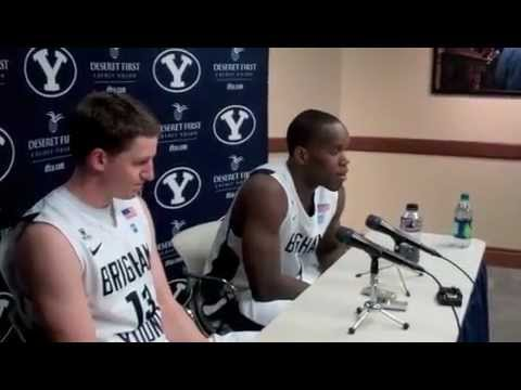 BYU's Charles Abouo talks after Senior Night