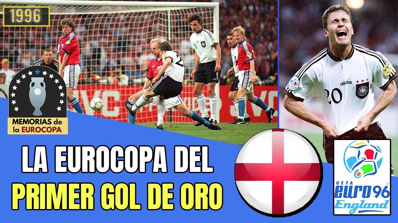 La EURO 1996 de Inglaterra 🇩🇪🏆 ALEMANIA Campeón con el 𝗣𝗥𝗜𝗠𝗘𝗥 𝗚𝗢𝗟 𝗱𝗲 𝗢𝗥𝗢 | Historia de la Eurocopa