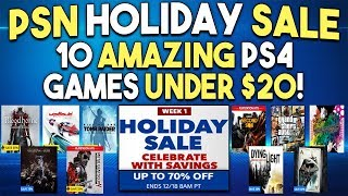 10 Amazing PS4 Games Under $20! - PSN Holiday Sale 2018 Deals!
