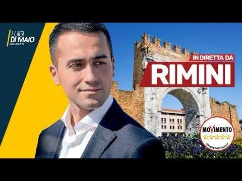 Luigi Di Maio .Rimini 15/2/2018