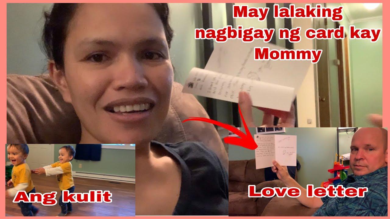 MAY  LALAKING NAGBIGAY NG CARD KAY MOMMY   ANG REAKSYON NI DADDY KALBS   FILIPINA AMERICAN FAMILY