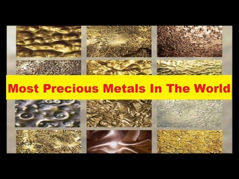 Top 10 Most Precious Metals In The World 'Top 10 Most Expensive Materials In World'