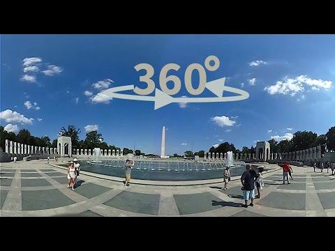 360º/ VR World War II Memorial & Reflecting Pool - Washington DC - USA
