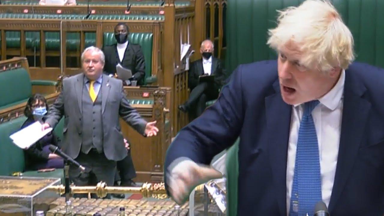 'Out of context!' Boris Johnson slaps down SNP's racism accusation
