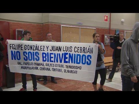 Conferencia de Felipe González cancelada por escrache