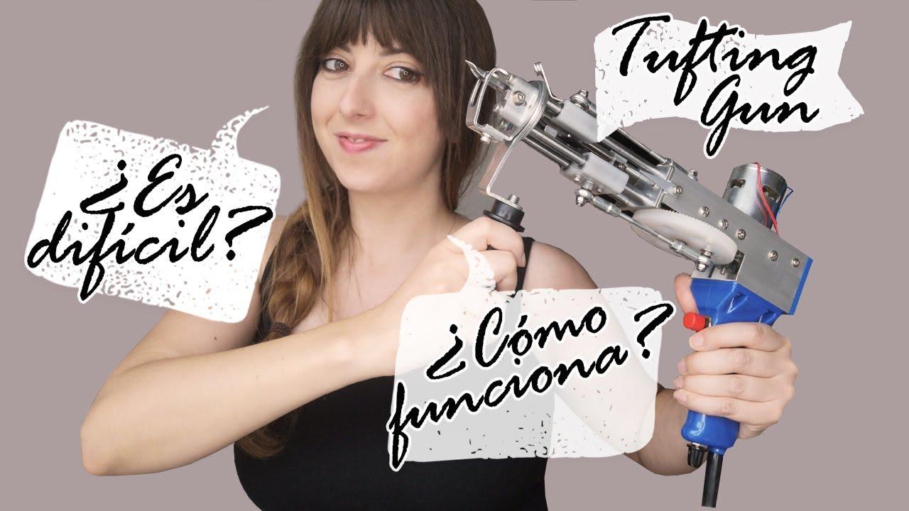 Cómo TEJER una ALFOMBRA con PISTOLA parte 1 |  TUFTING GUN |  SHANTI IRENE