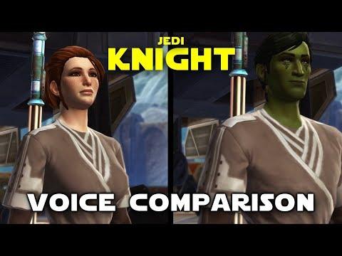Star Wars: The Old Republic - Jedi Knight's Voice Comparison