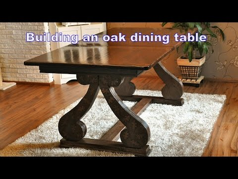 Building an oak dining table