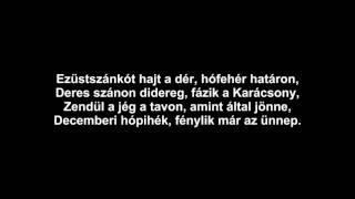Delhusa Gjon - Ezüstszánkót hajt a dér (dalszöveg - lyrics video)