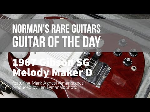Norman's Rare Guitars - Guitar of the Day: 1967 Gibson SG Melody Maker D