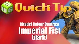Quick Tip Citadel Colour Contrast Imperial Fist (dark)