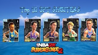 Top 10 3 Point Shooters in NBA 2K Playgrounds 2