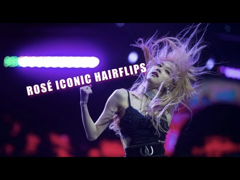 BLACKPINK - All ROSÉ ICONIC HAIR FLIPS! (Rosé In A Nutshell)