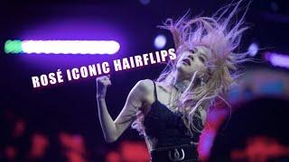 Blackpink - all rosÉ iconic hair flips! (rosé in a nutshell)