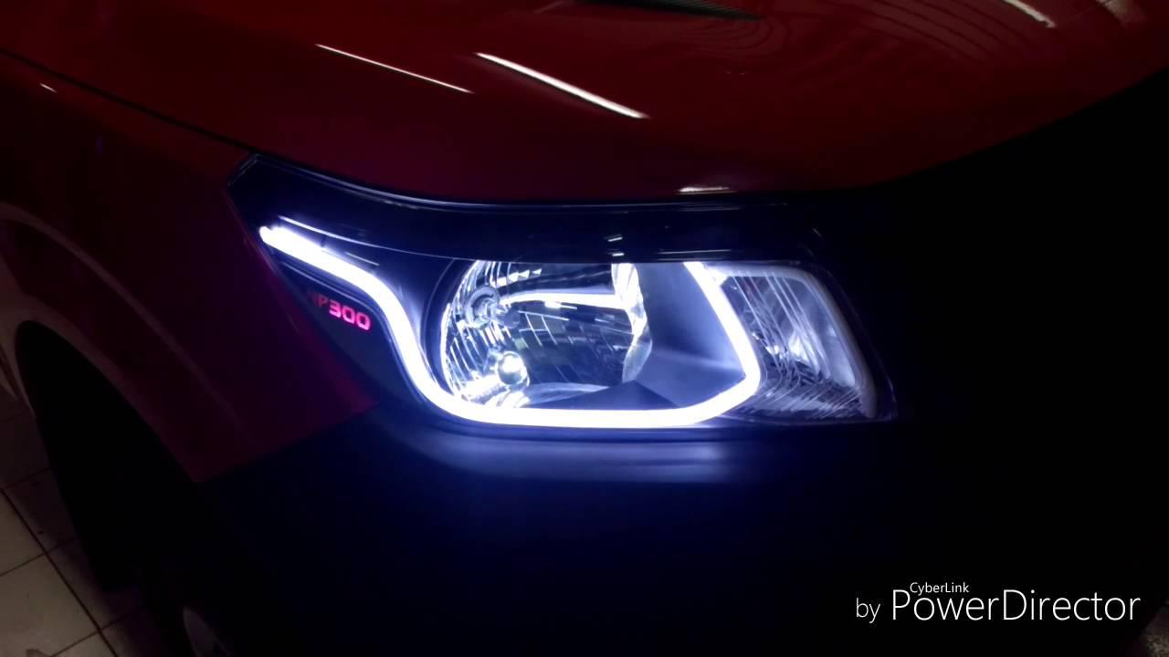 Tuning Faros Np300 Neon Flex Grabado E Iluminacion De