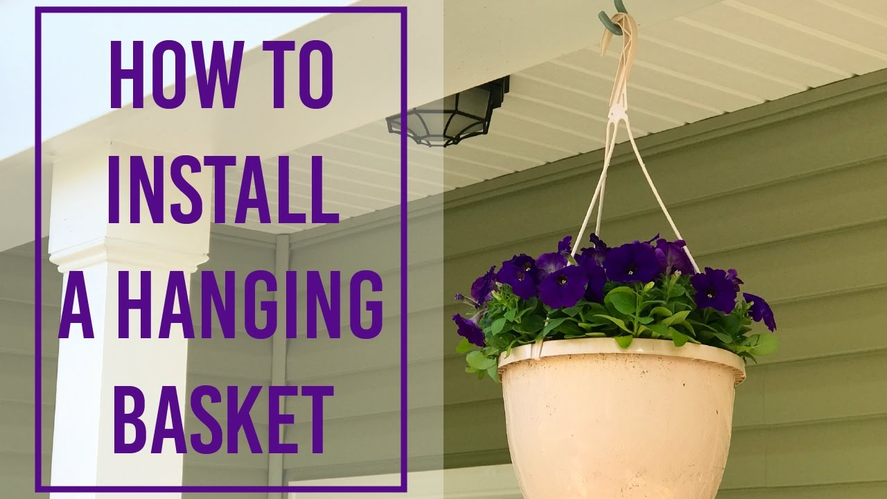 How to install a hanging basket youtube for How to hang flowers