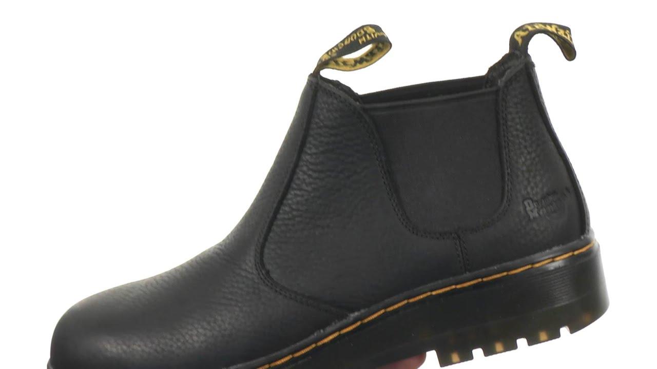 Martens Mens Rivet Steel Toe Leather Work Boots Dr