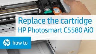 Replacing a Cartridge - HP Photosmart C5580 All-in-One Printer(, 2010-03-19T21:46:44.000Z)