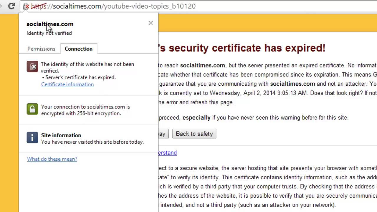 How To Fix The Sites Security Certificate Has Expired Or Is Not