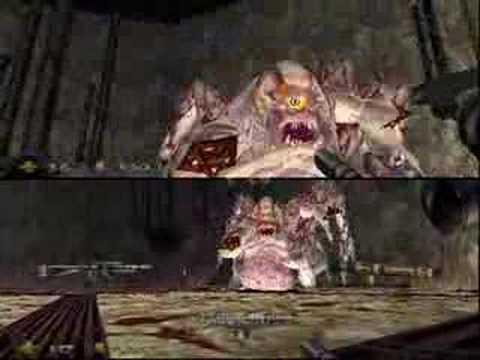 Turok 2 N64 Mother Boss Co Op Splitscreen Nintendo 64 Battle Youtube